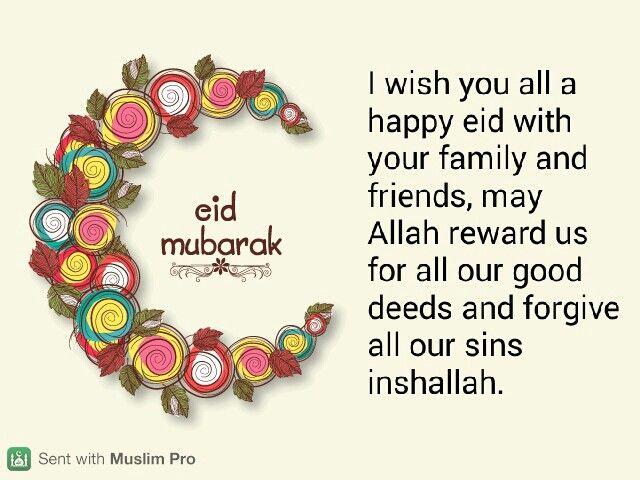 Eid Mubarak Kartu Eid Kutipan