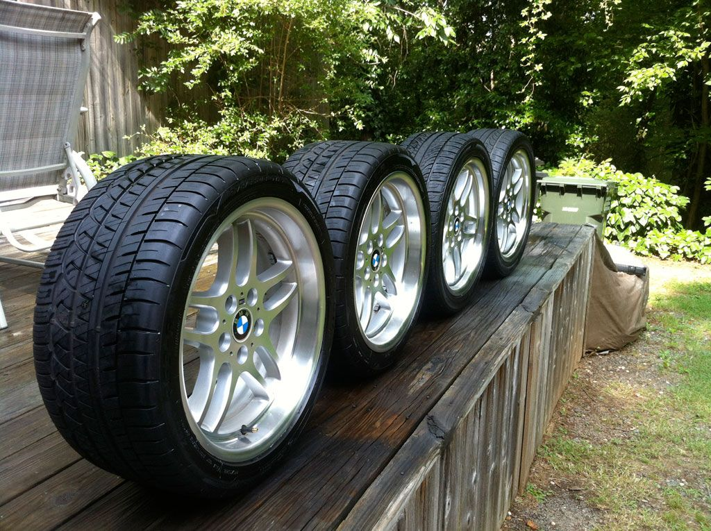 Front 18x8 with 245/40/18 Nexen N7000 tires. Rear 18x9.5 ...