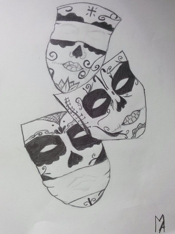 Drawing#idea#masks#boring#day#summer#holiday#gothic#black# ...