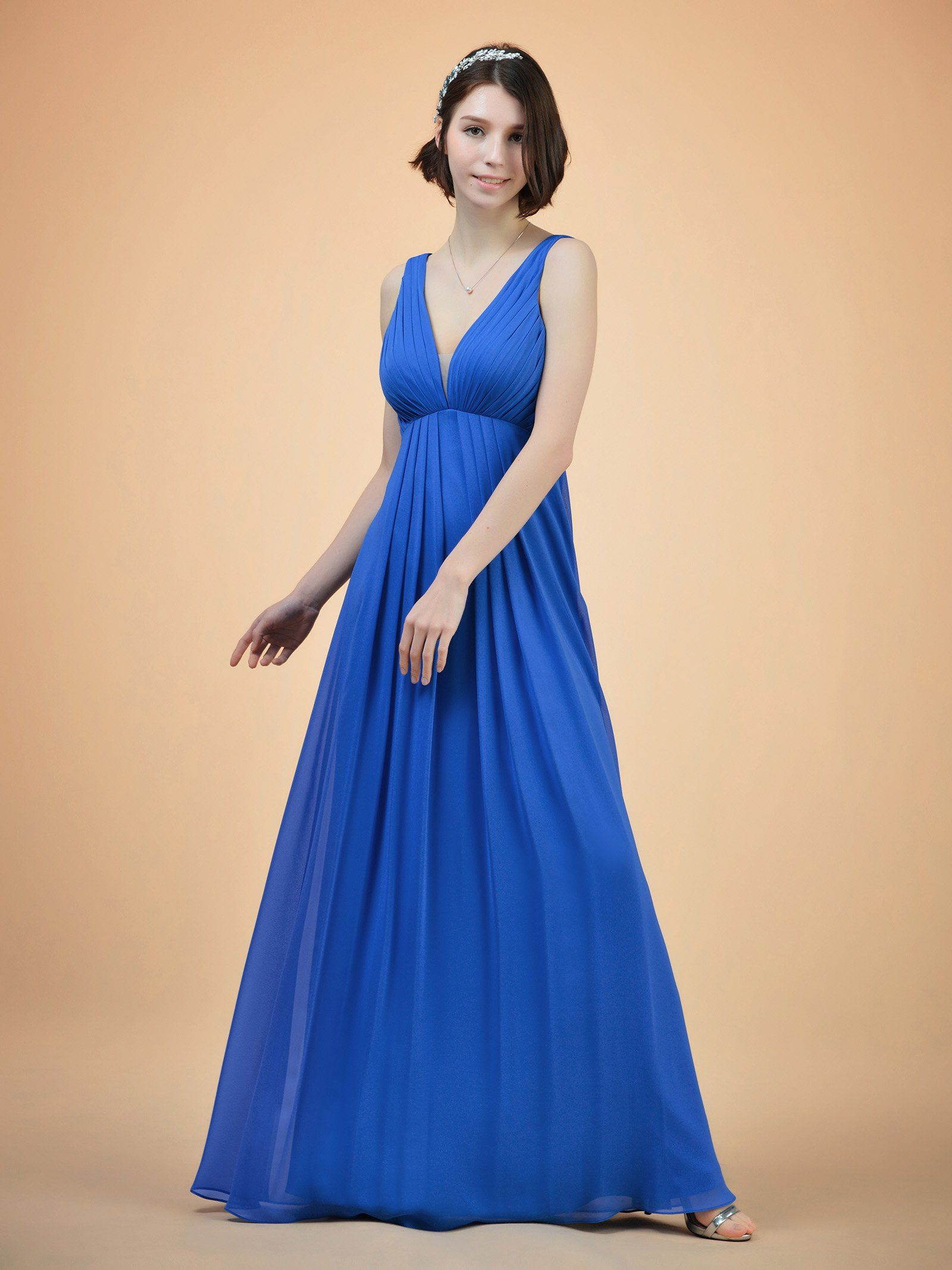 005cbeb70dd0 Alicepub Vneck Sleeveless Bridesmaid Dress Long Empire Party Prom Evening  Dress Regency US18 >>> Continue to the product at the image link.