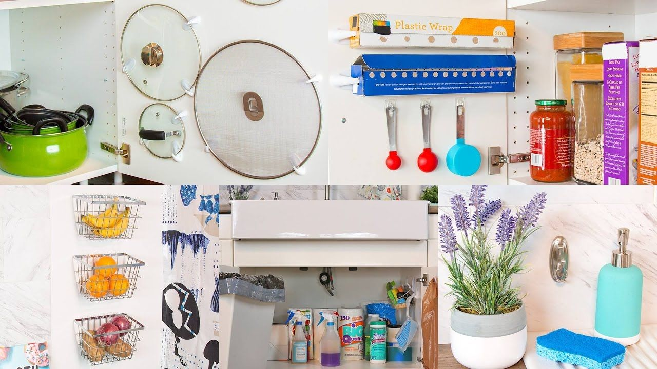 Adhesive Hook Hacks to Organize Your Kitchen