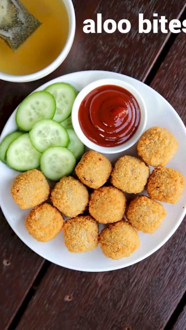potato bites recipe | aloo bites recipe | chilli garlic potato bite