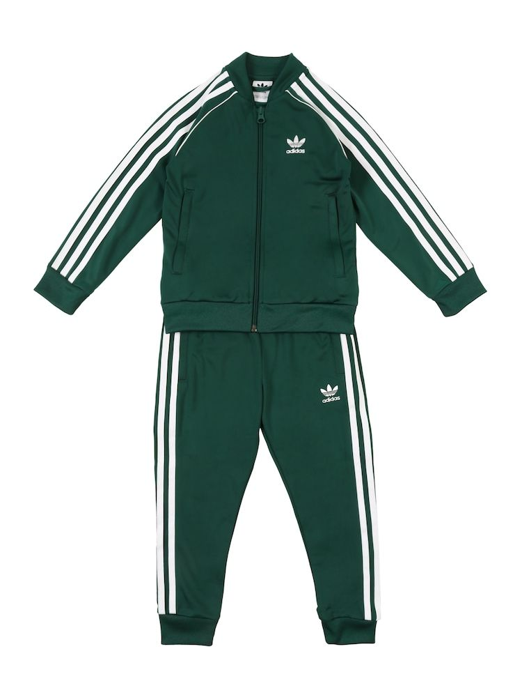 ADIDAS ORIGINALS Set 'SUPERSTAR SUIT' Mädchen, Tanne Weiß