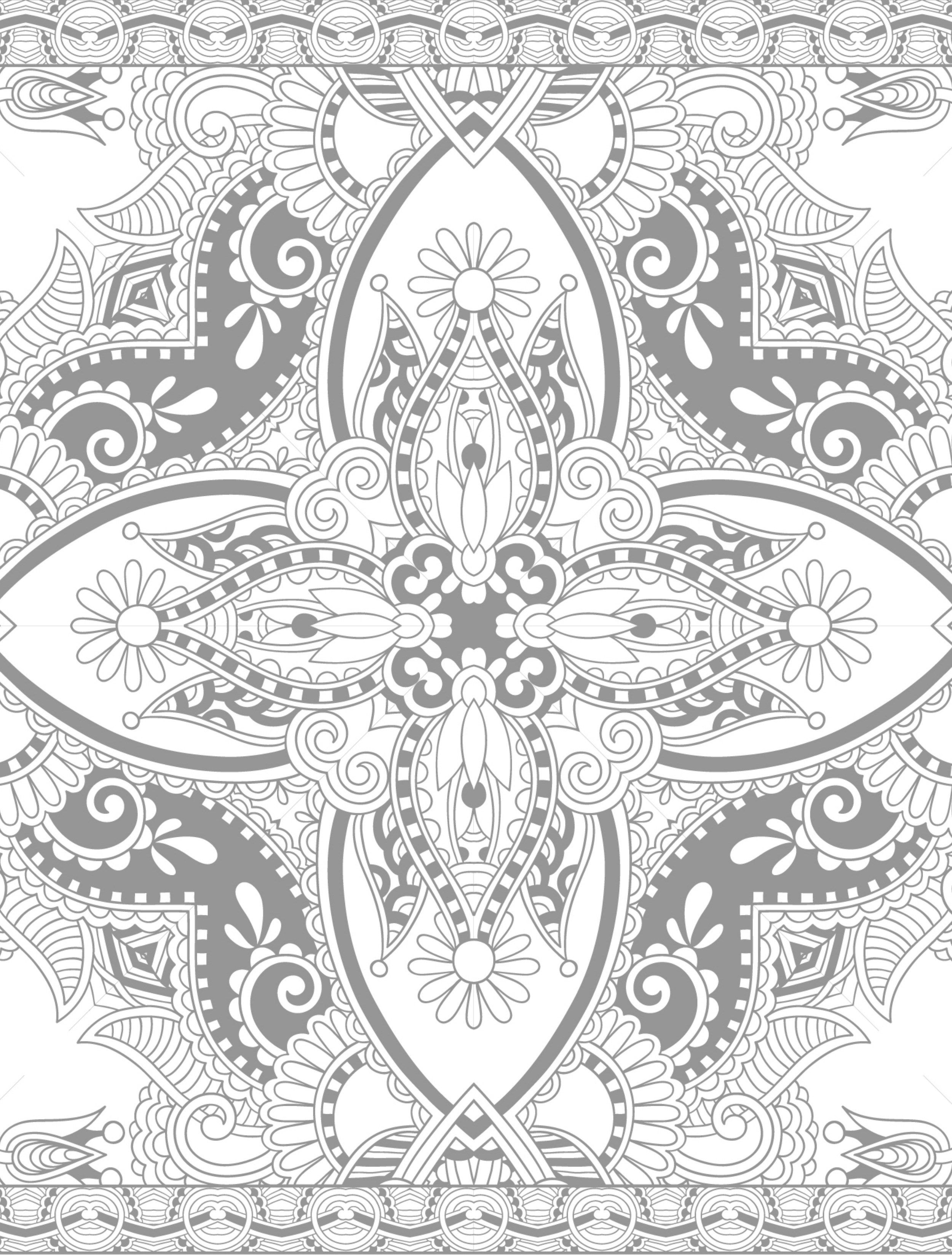 Mandala Мандала coloring page printable adults Animal Flower Holiday ...