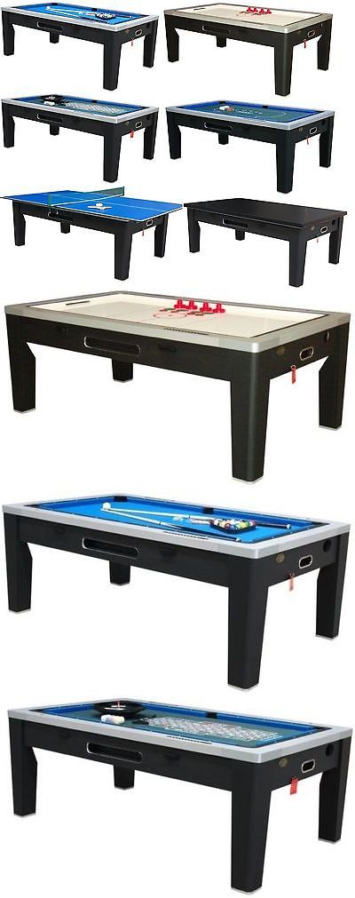 Air Hockey 36275: 6 In 1 Combo Game Table ~Pool~Air Hockey~