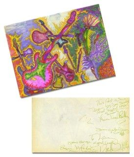 Original Jimi Hendrix Own Hand Drawings An Paintings Rare How