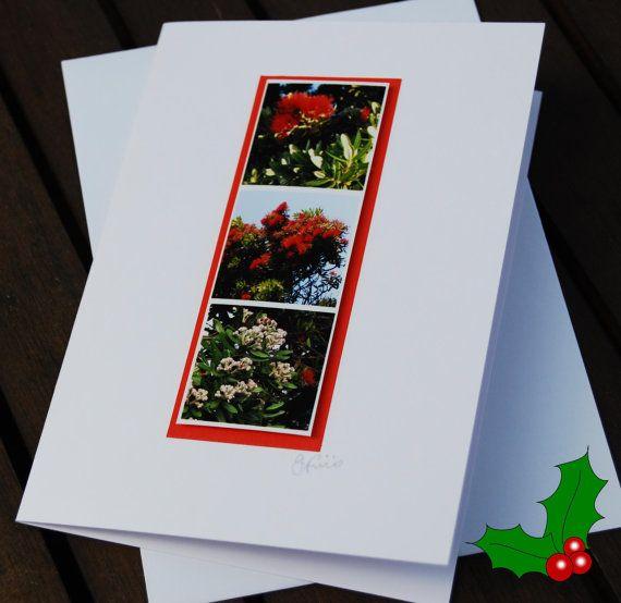 Handmade Christmas Card New Zealand Pohutakawa Tree Holiday Cards Handmade Christmas Cards Handmade Christmas Cards