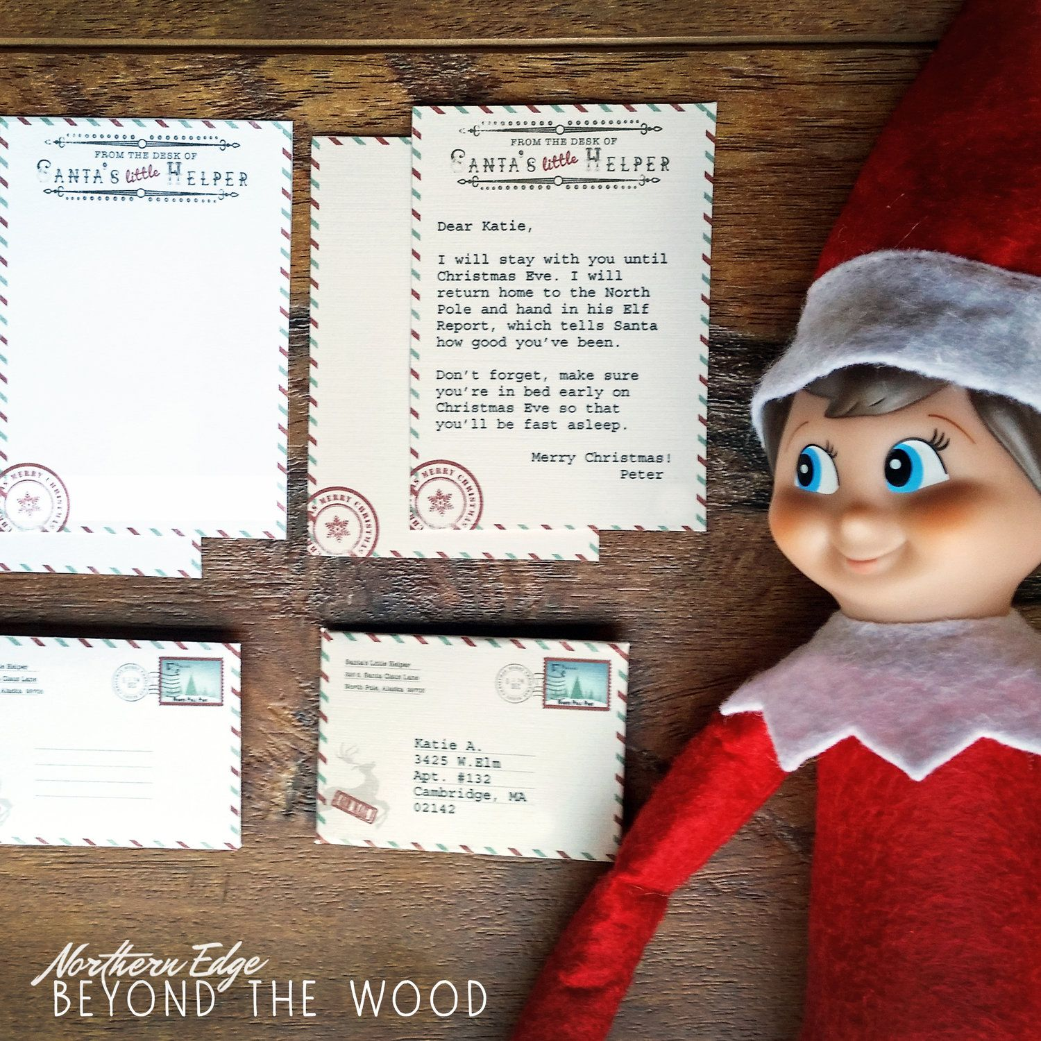 Mini Elf Letter  Digital Download    Elf Ideas Shelf