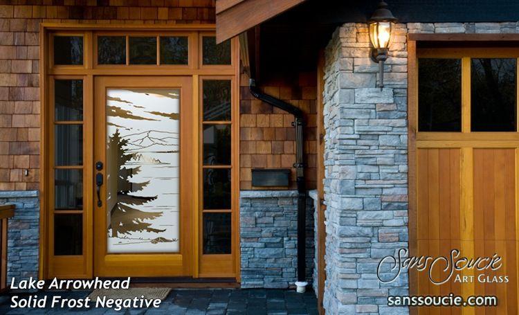 Lake Arrowhead Negative Glass Entry Doors