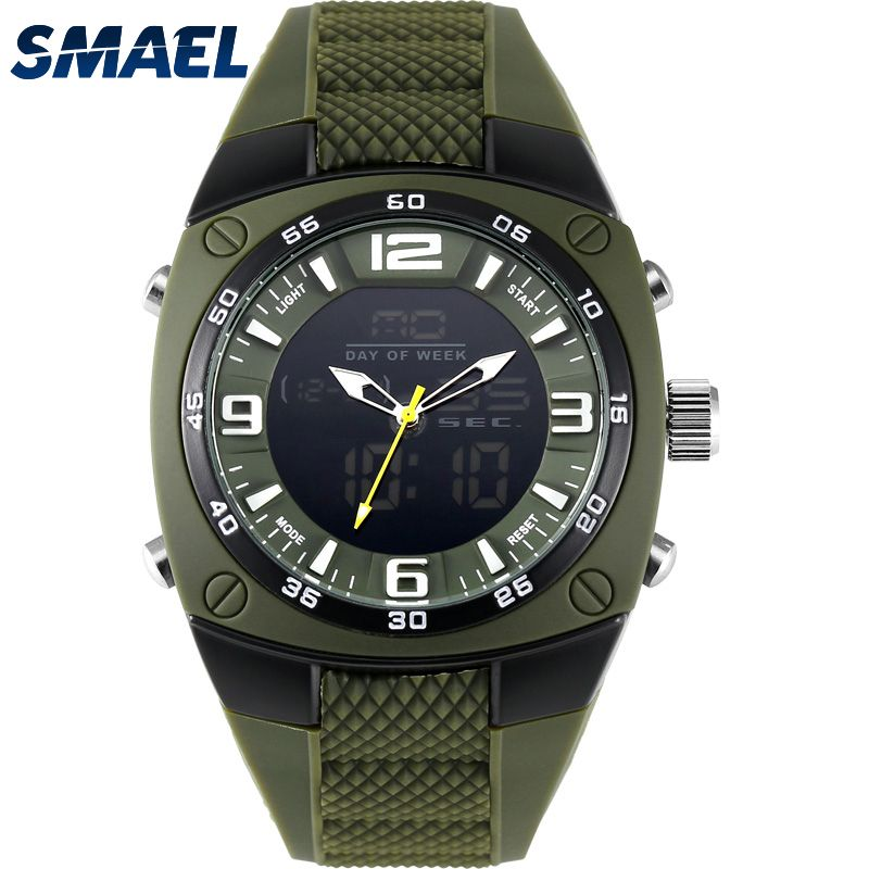 SMAEL Hombres Relojes Militares 2017 Aleación Grande Del Dial Impermeable  Reloj Deportivo de Buceo Digital de 3b8a4b04b6d1