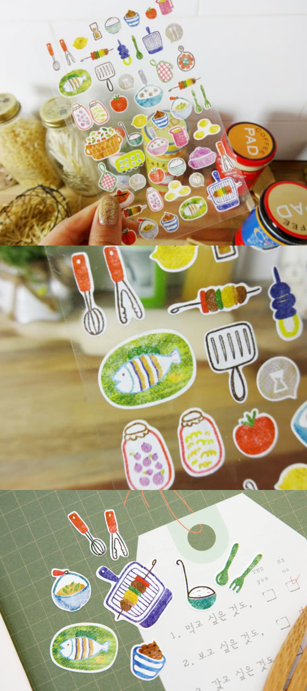 Colorful Kitchen Supplies: The Kitchen Deco Sticker Is Colorful Stickers With Water