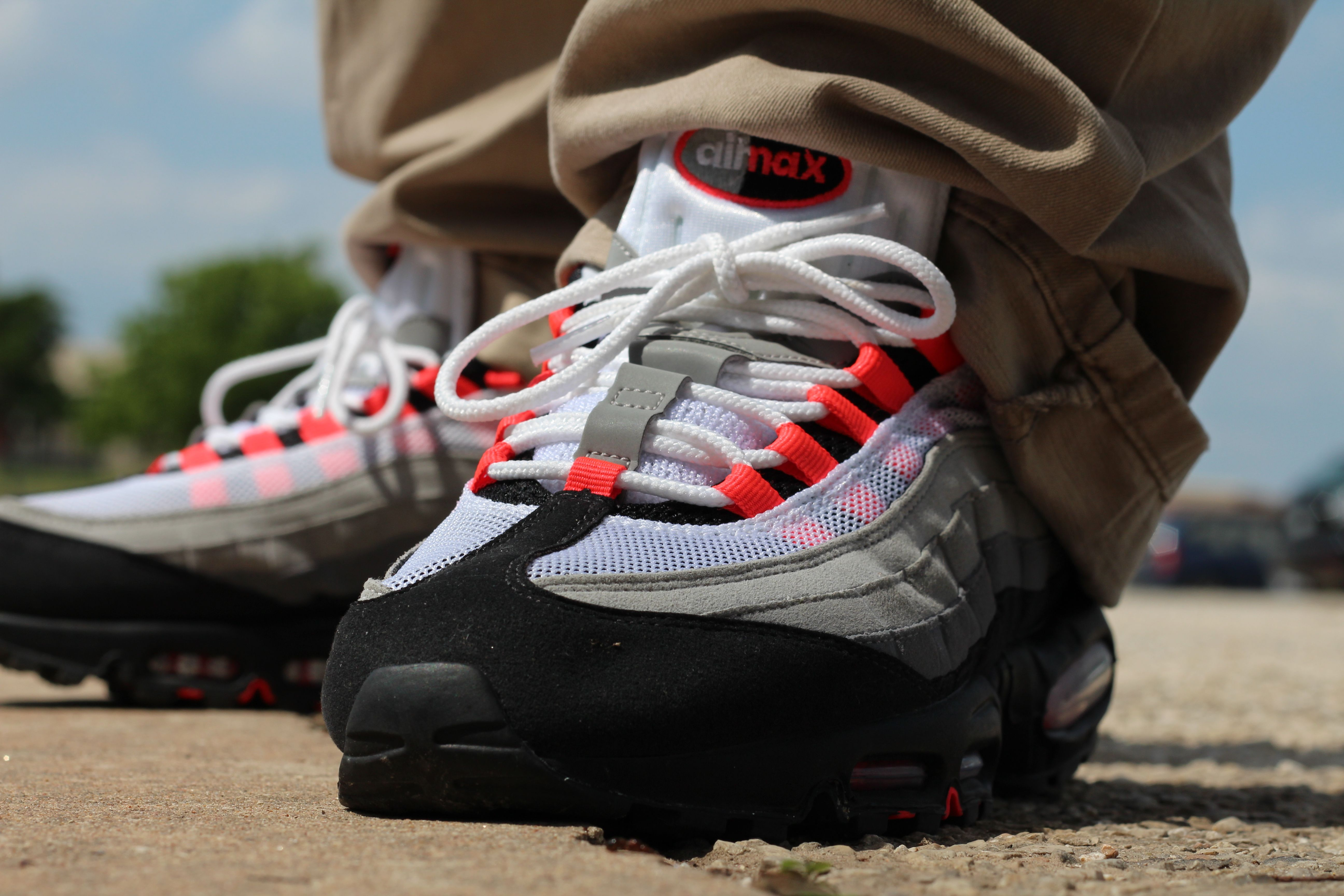 outlet on sale recognized brands buying now air max 95 solar red on feet, Nike Air Max Shoes | Nike Air ...