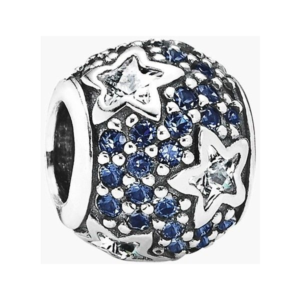 Women's PANDORA 'Follow the Stars' Charm (4.545 RUB) ❤ liked on Polyvore featuring jewelry, pendants, pandora jewelry, pandora jewellery, sparkle jewelry, charm jewelry and charm pendant