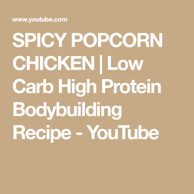 SPICY POPCORN CHICKEN | Low Carb High Protein Bodybuilding Recipe