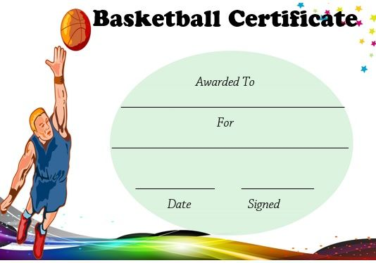 Basketball Certificate Sample  Basketball Certificate Template