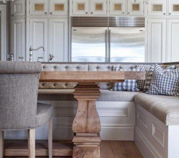 Pourquoi choisir une table avec banquette pour la cuisine ou la salle manger banquettes - Salle a manger avec banc ...