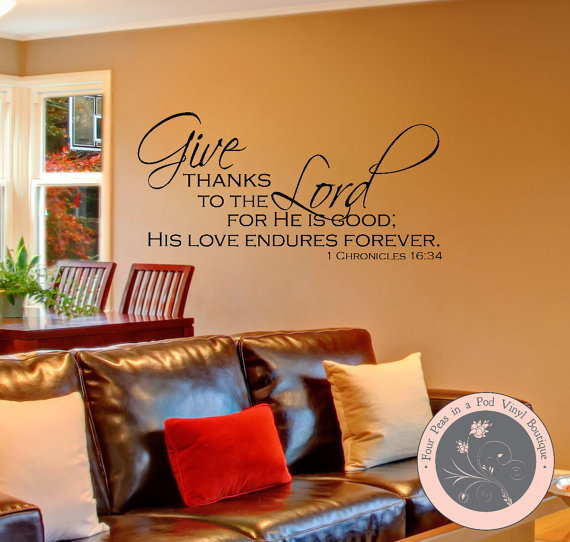Thanksgiving Decor, Black, Thanksgiving, Give Thanks to the Lord ...