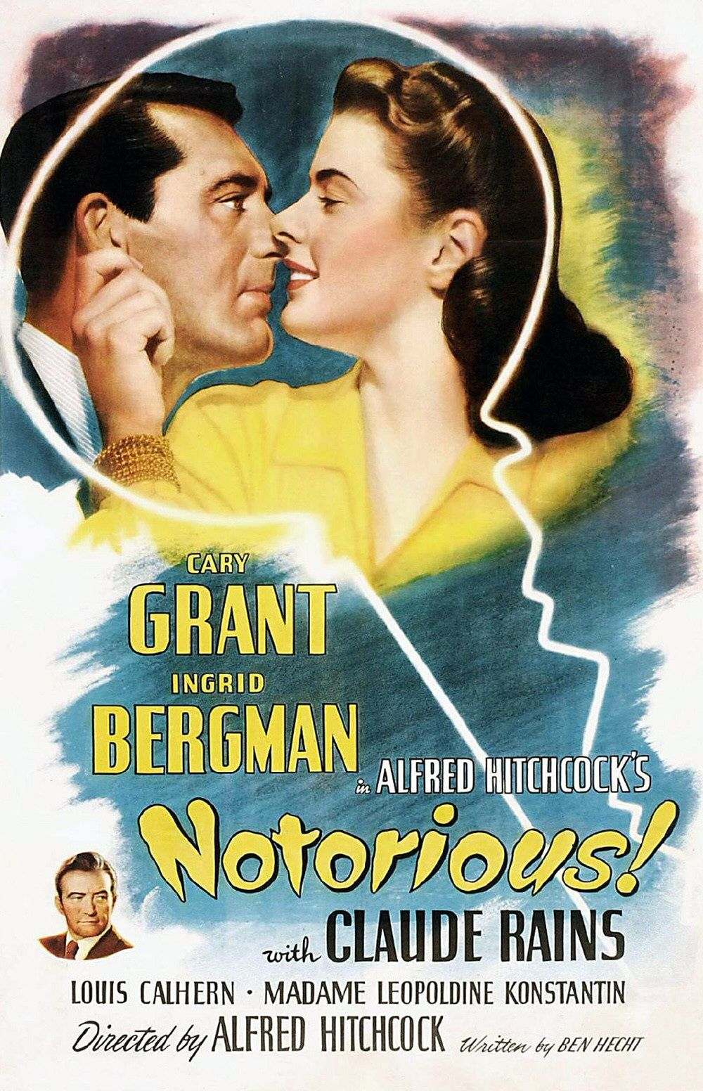 Notorious Wallpaper Poster Alfred Hitchcock Classic Movie Wallpapers