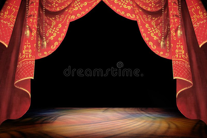 Stage Curtain And Background Illustration Affiliate Curtain