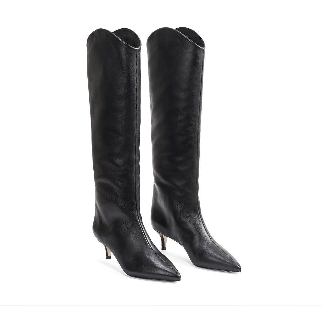 Abbey Boot In 2020 Kitten Heel Boots Boots Leather Heels