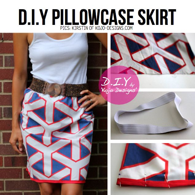DIY Pillowcase Skirt & DIY Pillowcase Skirt | Summer Projects | Pinterest | Diy clothes ... pillowsntoast.com