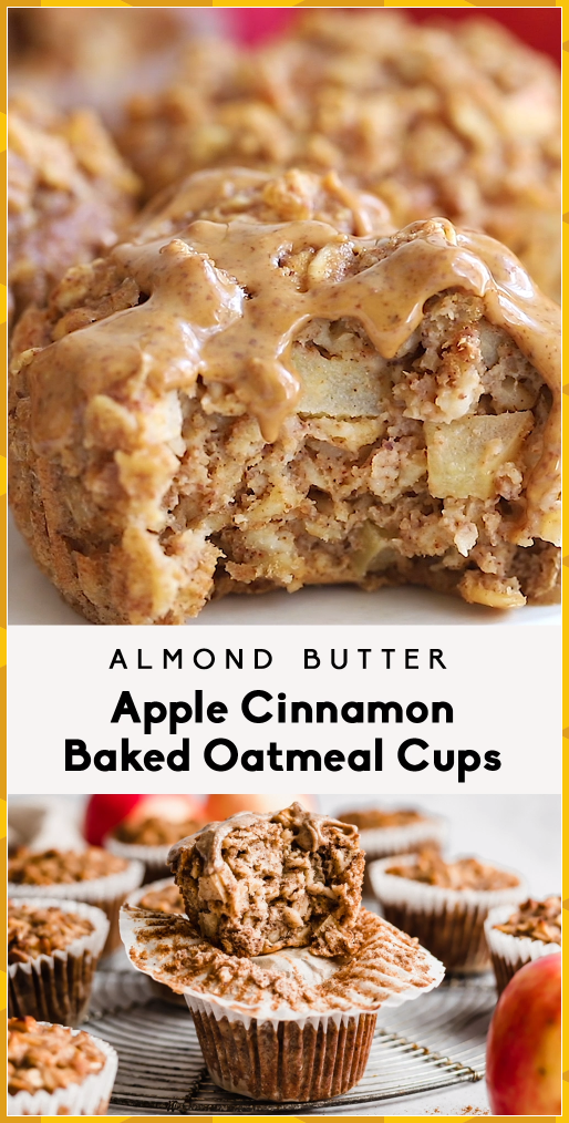Almond Butter Apple Cinnamon Baked Oatmeal Cups #Almond #Apple #Baked #baking aesthetic #baking bread #baking brownies #baking cakes #baking chicken #baking cookies #baking cupcakes #baking desserts #baking for beginners #baking hacks #baking ideas #baking illustration #baking makeup #baking maquillaje #baking muffins #baking photography #baking pictures #baking potato #baking quotes #baking recipes #baking slice #baking spaghetti #baking tips #baking tools #baking videos #baking with kids #baki