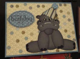 Hippo, birthday card