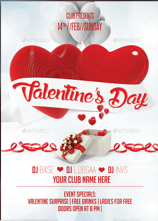 Awesome ValentineS Day Flyer Template Designs   Awesome