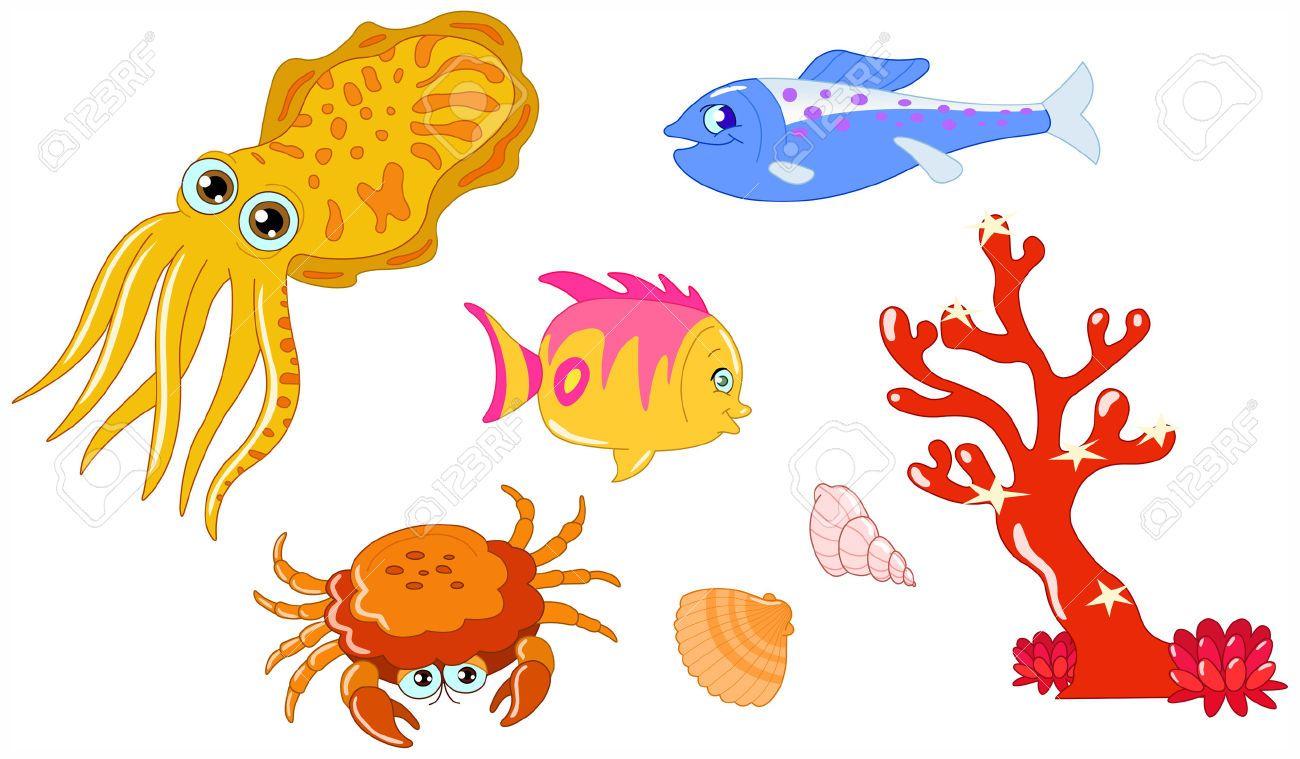 Vector Cartoon Animals Cartoon sea animals, Cartoon