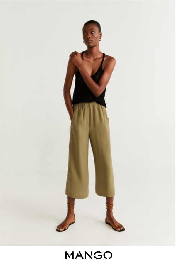 MANGO – female – Pantalón culotte khaki MANGO – Khaki – XS