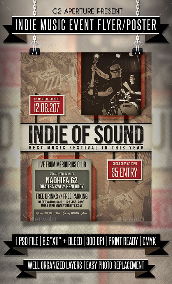 Indie Music Event Flyer  Poster  Event Flyers Indie Music And