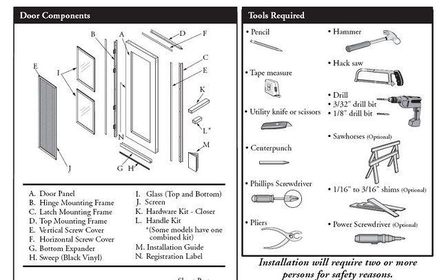 Pella Storm Door Handle Kit Instructions Door Designs Plans Door