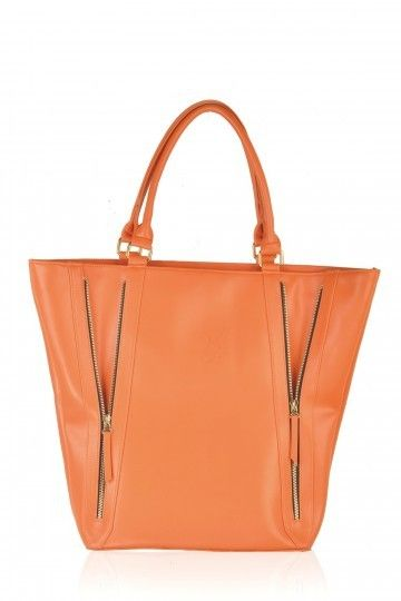 Tan Front Zipper Tote Bag | #women #fashionable #tote #bags ...