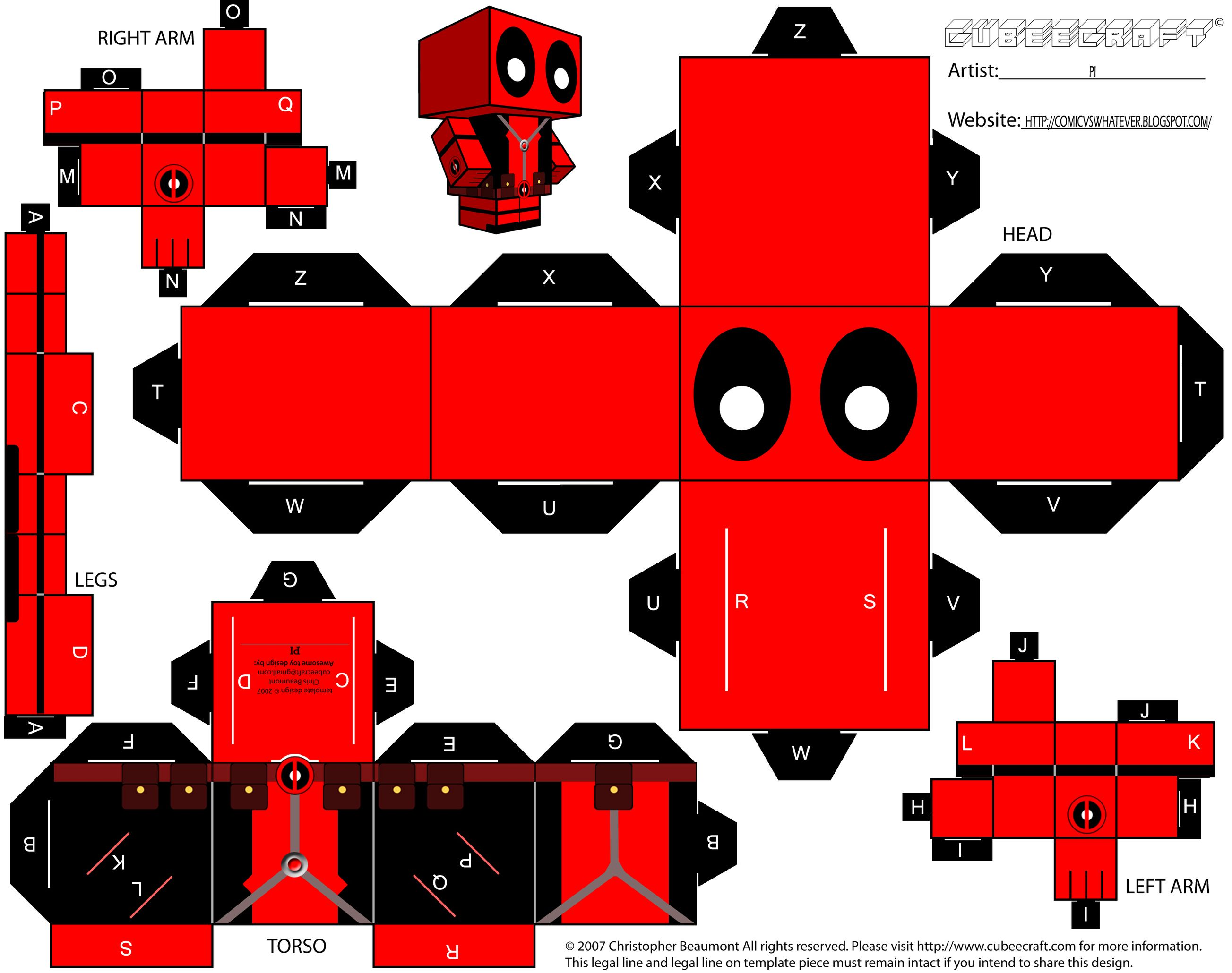 fantastic friday: pi's cubecraft deadpool. | pliage, origamideco
