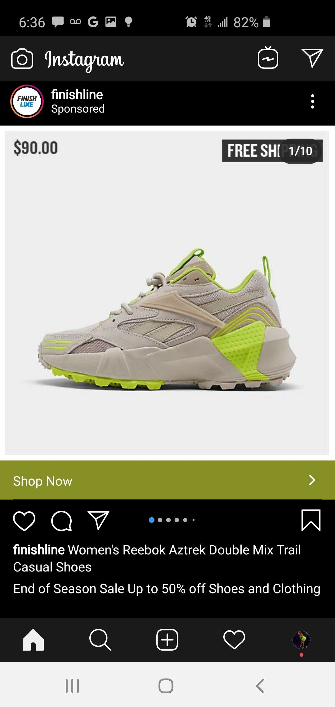 end sale trainers