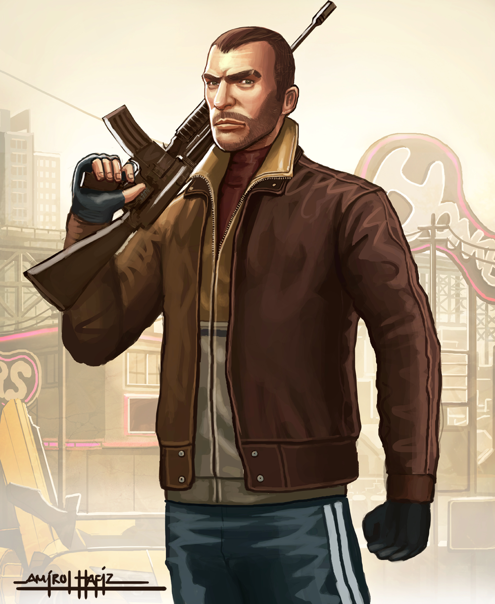 Niko Bellic By Amirulhafiz On Deviantart Grand Theft Auto