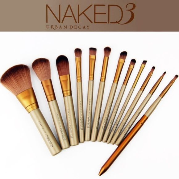 urban decay brushes. naked 3 makeup brushes \u0026 case 12 new in tin❗ \u203c️not official urban decay