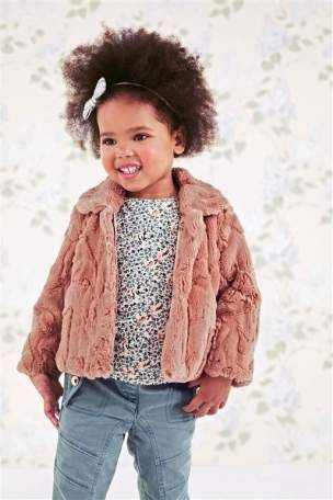 Buy Pink Faux Fur Coat (12mths-6yrs) from the Next UK online shop ...