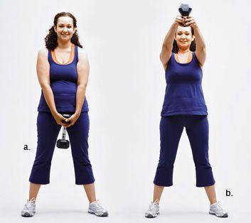 dumbbell swings works glutes quads inner thighs