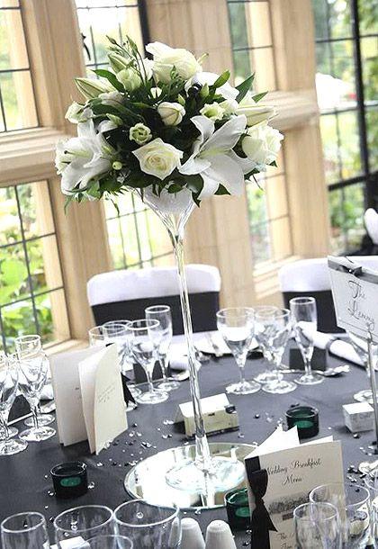 Vase verre martini sur pied g ant centre de table - Coupe en verre sur pied centre de table ...