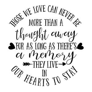 Memorial Cut File Those We Love Can Never Silhouette