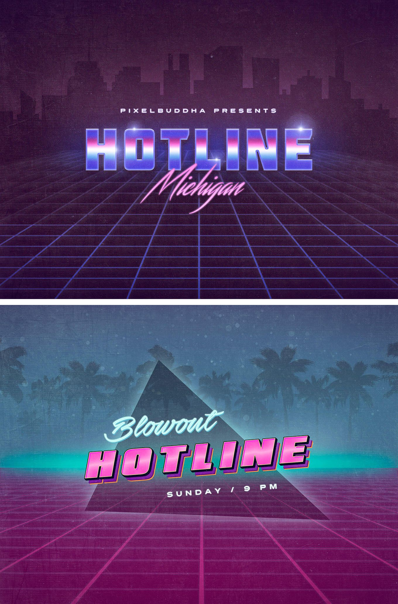Hotline Michigan Text Effects Text Effects Retro Text Text