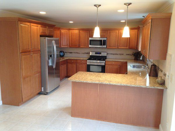 Mz Kitchen Legacy Cabinets Manchester Maple With A Toast Finish