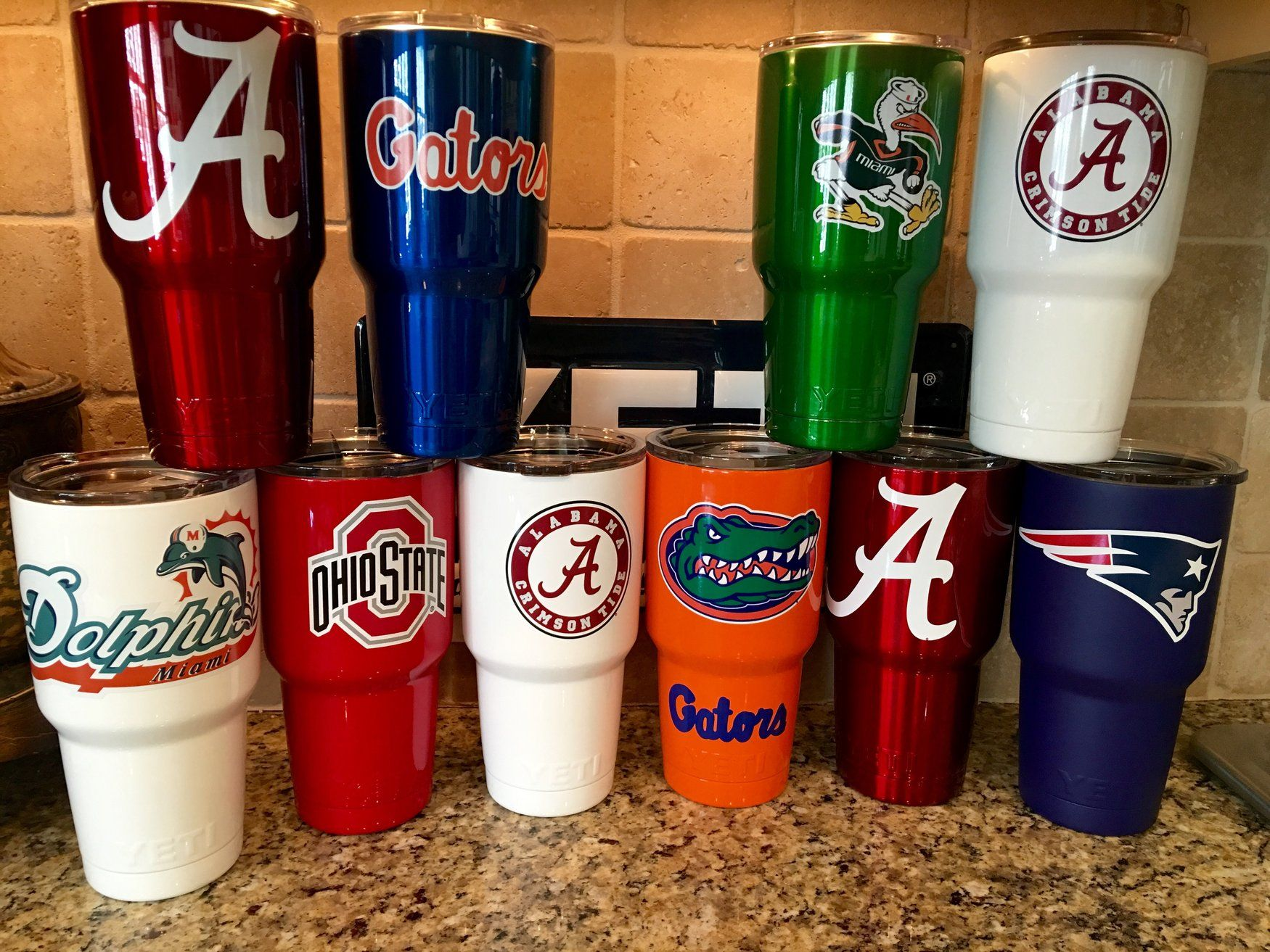 Custom Designed Yeti Rambler Tumblers Featuring Your Favorite Team Artwork Company Logo Or Your Name Or Mo Yeti Rambler Tumblers Rambler Tumbler Yeti Rambler