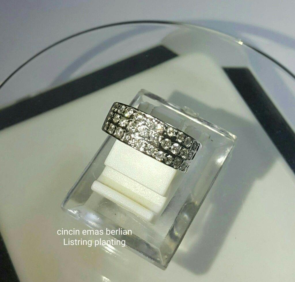 New Arrival Cincin Emas Berlian Listring 3l Style Toko Satu Set Jewelry Tunangan Kawin Pernikahan Wedding Round Planting Perhiasan