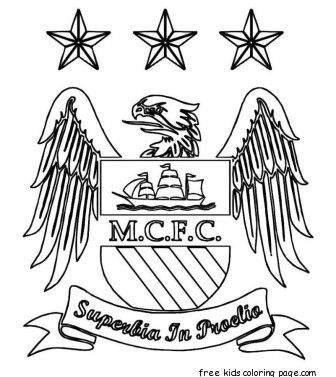 Printable Manchester City Logo Soccer Coloring Pages Football