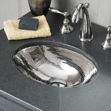 Photo of Native Trails CPS838 Polished Nickel Baby Classic 13-1/2″ Single Basin Undermount Copper Bathroom Sink