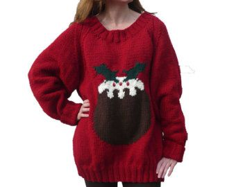 Christmas pudding jumper chunky knitting pattern k christmas pudding jumper chunky knitting pattern dt1010fo