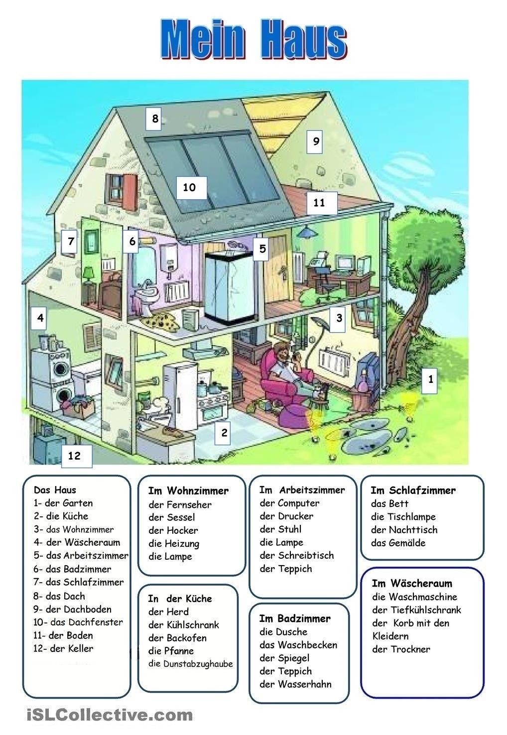das haus daf langue allemande allemand und apprendre l 39 allemand. Black Bedroom Furniture Sets. Home Design Ideas