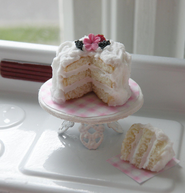 Miniature Beautiful 3 Layer Vanilla Cake
